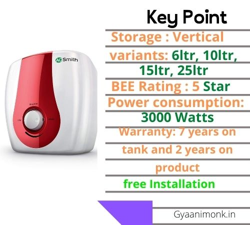 AO Smith SGS-GREEN SERIES-015, Best Geyser in India